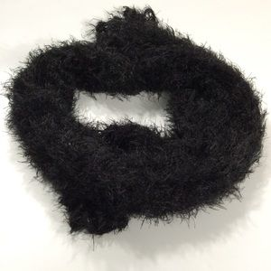 Scarf   Black Faux Fur Puffy Scarf Soft